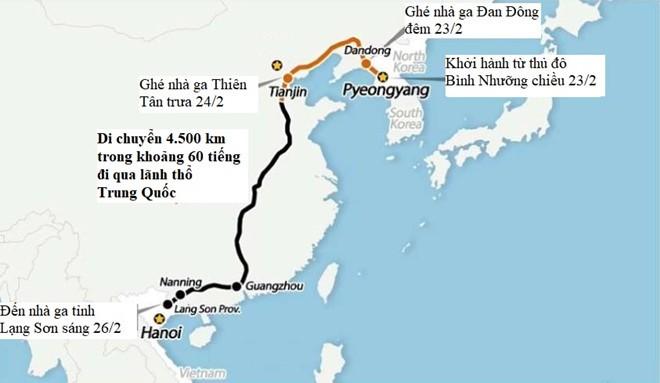 Tau boc thep cua ong Kim Jong Un di qua Ho Nam, con cach VN hon 900 km-Hinh-2