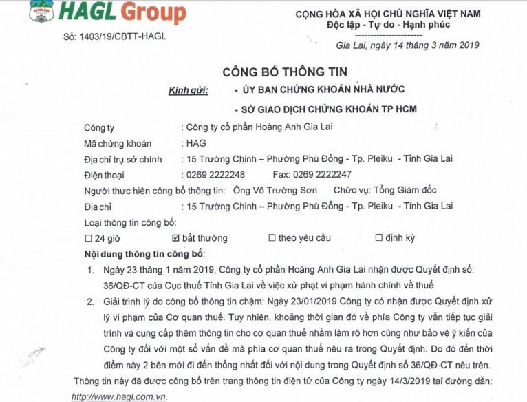 Hoang Anh Gia Lai cua bau Duc bi truy thu thue 11 ty
