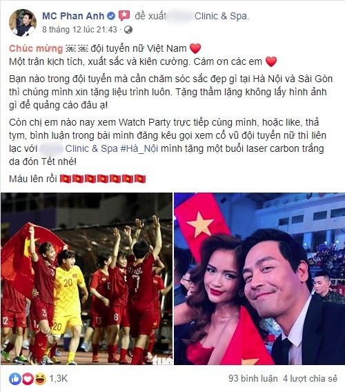 Phan Anh bi nem da vi loi dung doi tuyen bong da nu de PR lo lieu