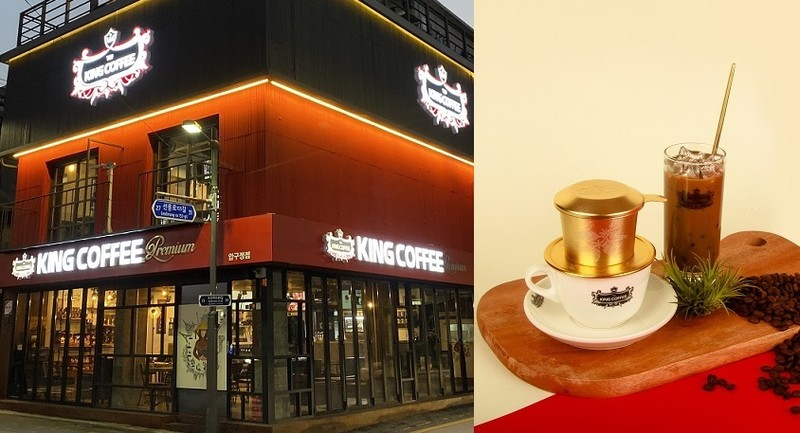 "King Coffee cua ba Diep Thao lung linh o Seoul giua ""bao"" ly hon"