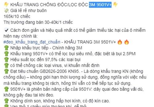 "Loan khau trang phong virus corona duoc ""con buon"" Viet ban online-Hinh-2"