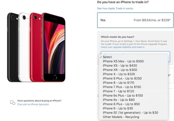 Apple cho nguoi dung doi iPhone cu lay iPhone SE 2020
