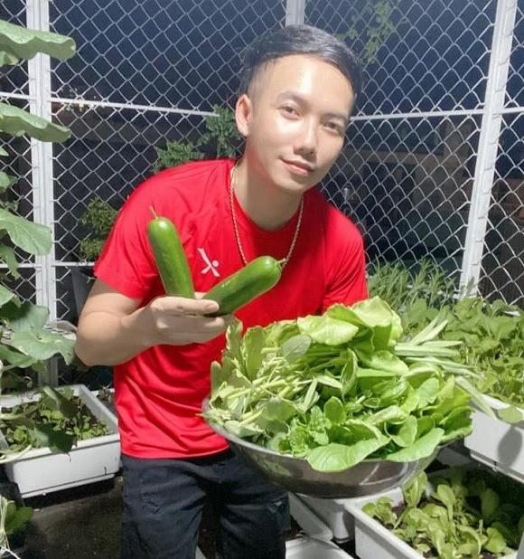 """Khu vuon rau cu sach """"an khong het"""" cua ca si Pham Truong-Hinh-2"""
