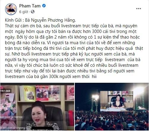 "CEO Asanzo cam on ba Phuong Hang, ""khoe"" ban 3.000 chiec TV mot ngay"