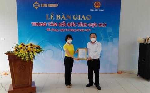 Sun Group ban giao Trung tam Hoi suc tich cuc dieu tri COVID-19 cho Bac Giang
