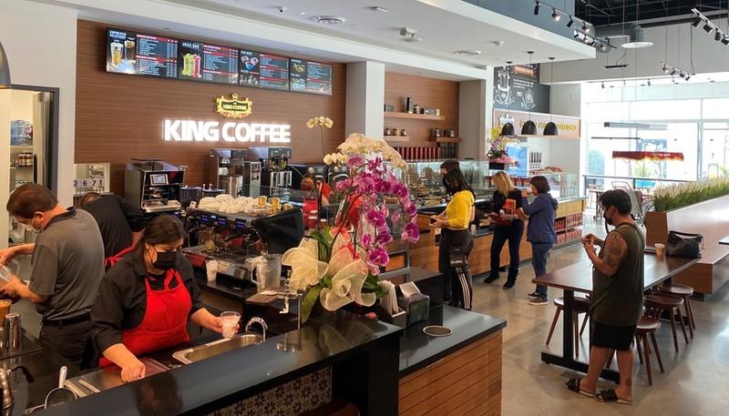 Phuc Long, King Coffee mo cua hang o My