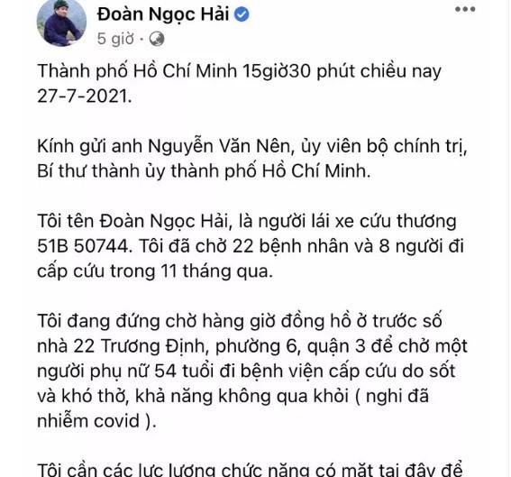 Quan 3 phan bac thong tin ong Doan Ngoc Hai phan anh tren Facebook