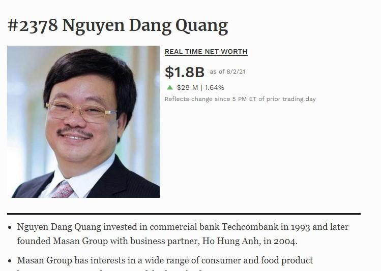 """""""Dem"""" tai san cua ong chu Masan Nguyen Dang Quang"""