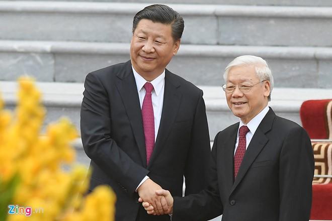 Bao chi Trung Quoc noi ve chuyen tham Viet Nam cua ong Tap Can Binh