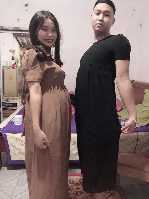 Hanh dong cua chong khi mua vay cho vo bau khien dan mang vua buon cuoi vua cam dong-Hinh-2