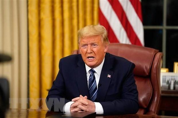 Tong thong My Donald Trump ban bo tinh trang khan cap quoc gia