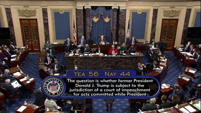 56 thuong nghi si dong y tien hanh phien toa xet xu ong Donald Trump