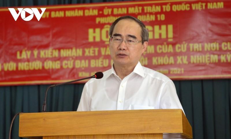 Cu tri dong y gioi thieu ong Nguyen Thien Nhan ung cu DBQH khoa XV