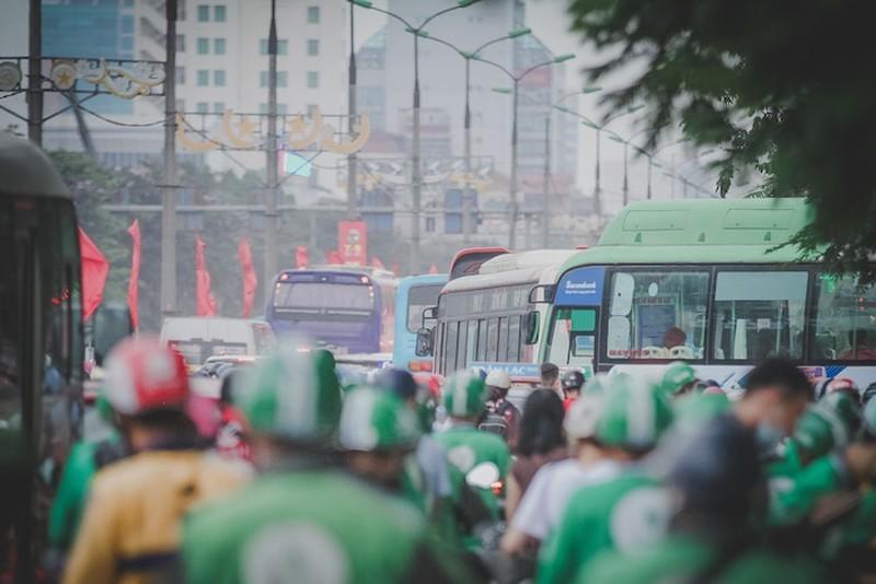TP HCM: Ga trai lam bay voi tai xe xe cong nghe khi den khu vuc An Suong