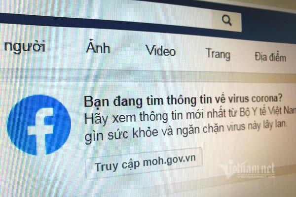 Tim virus Corona tren Facebook, nguoi dung Viet duoc chi toi website Bo Y te