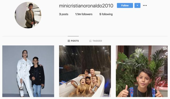 Chuan con trai Ronaldo: Tao Instagram 1 ngay da can moc trieu follow