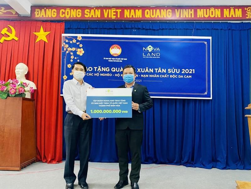 Nova Group dong hanh cung ho ngheo, nan nhan chat doc da cam tinh Dong Nai