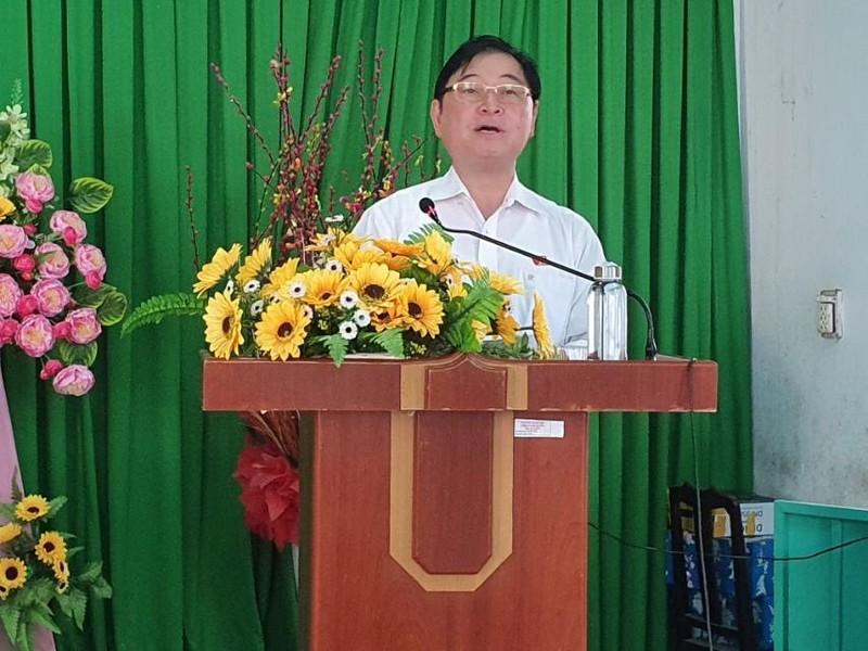 Chum anh Chu tich VUSTA Phan Xuan Dung va cac ung vien DBQH tiep xuc cu tri huyen Ninh Phuoc, Bac Ai-Hinh-4