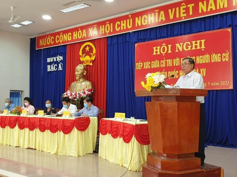 Chum anh Chu tich VUSTA Phan Xuan Dung va cac ung vien DBQH tiep xuc cu tri huyen Ninh Phuoc, Bac Ai-Hinh-7