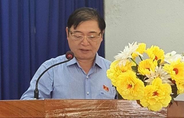 Chum anh Chu tich VUSTA Phan Xuan Dung va cac ung vien DBQH tiep xuc cu tri huyen Ninh Phuoc, Bac Ai-Hinh-8