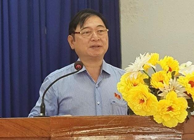 Chum anh Chu tich VUSTA Phan Xuan Dung va cac ung vien DBQH tiep xuc cu tri huyen Ninh Phuoc, Bac Ai-Hinh-9