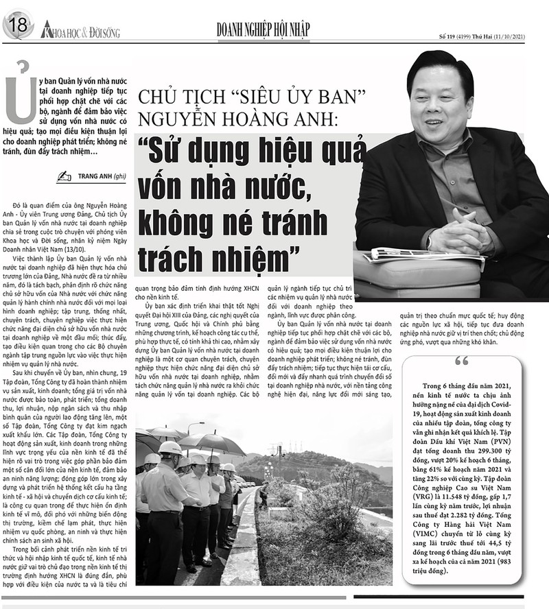 """Chu tich Nguyen Hoang Anh: """"Dung hieu qua von nha nuoc, khong ne tranh trach nhiem""""-Hinh-2"""