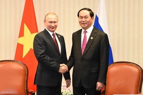 Toan van tuyen bo chung cua Chu tich nuoc Tran Dai Quang va Tong thong Nga Putin