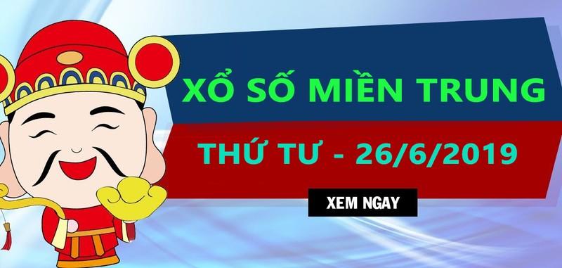 Ket qua xo so mien Trung hom nay 26/6/2019 – Truc tiep XSMT thu tu