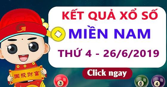 Xo so mien Nam thu 4 - Truc tiep ket qua XSMN 26/6/2019 hom nay