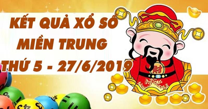 Ket qua xo so mien Trung hom nay 27/6/2019 – Truc tiep XSMT thu 5