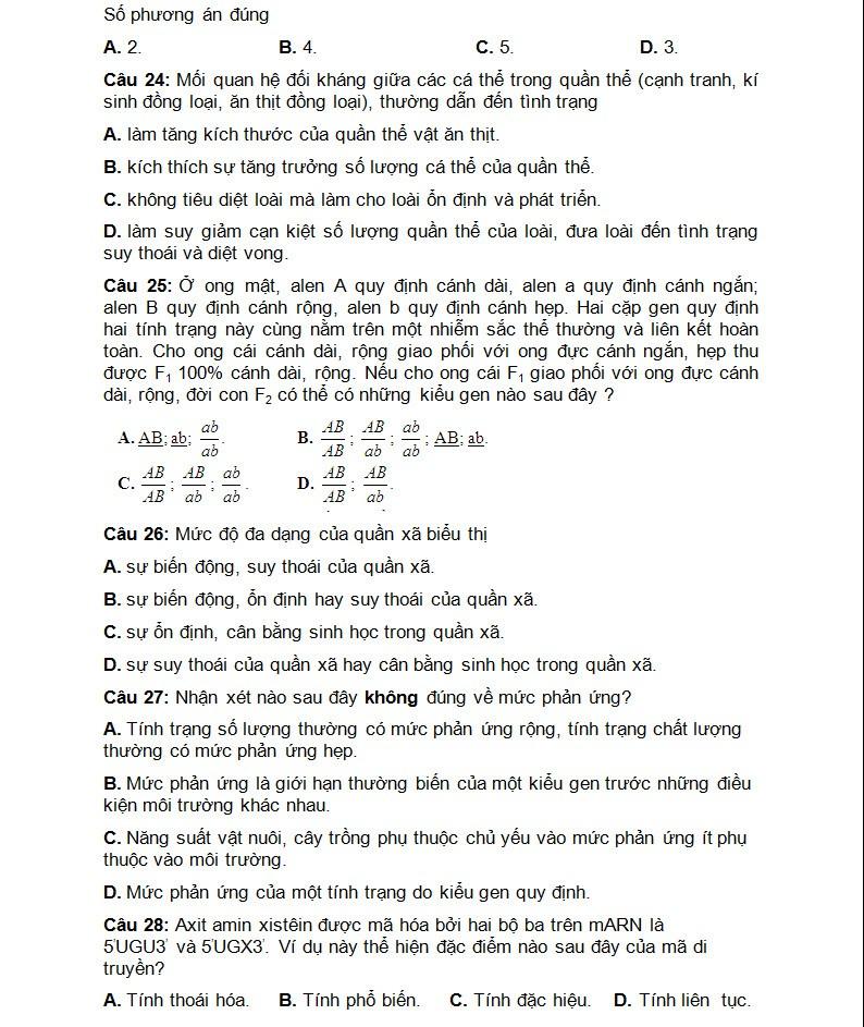 De thi thu THPT quoc gia mon Sinh chuyen DH Vinh lan 3-Hinh-6