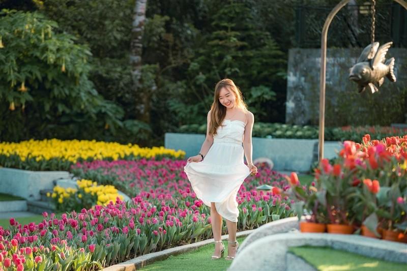 """Me mai giua """"doi"""" tulip ngat ngao huong sac tai Ba Na-Hinh-2"""