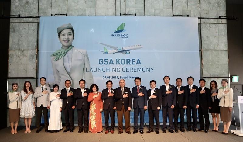 Bamboo Airways chinh thuc ra mat Tong dai ly tai Han Quoc