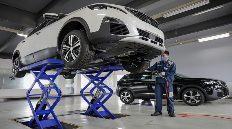 He thong showroom Peugeot chuan 3S toan cau tai Viet Nam