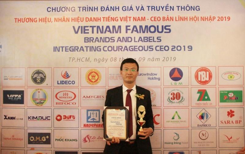 Eurowindow Holding dat Danh hieu Top 10 Thuong hieu, Nhan hieu danh tieng Viet Nam 2019
