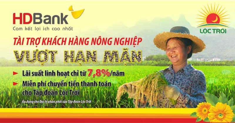 HDBank trien khai goi vay uu dai ho tro khach hang nong nghiep vuot han man