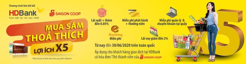 Mua sam thoa thich nhan uu dai tha ga tu HDBank