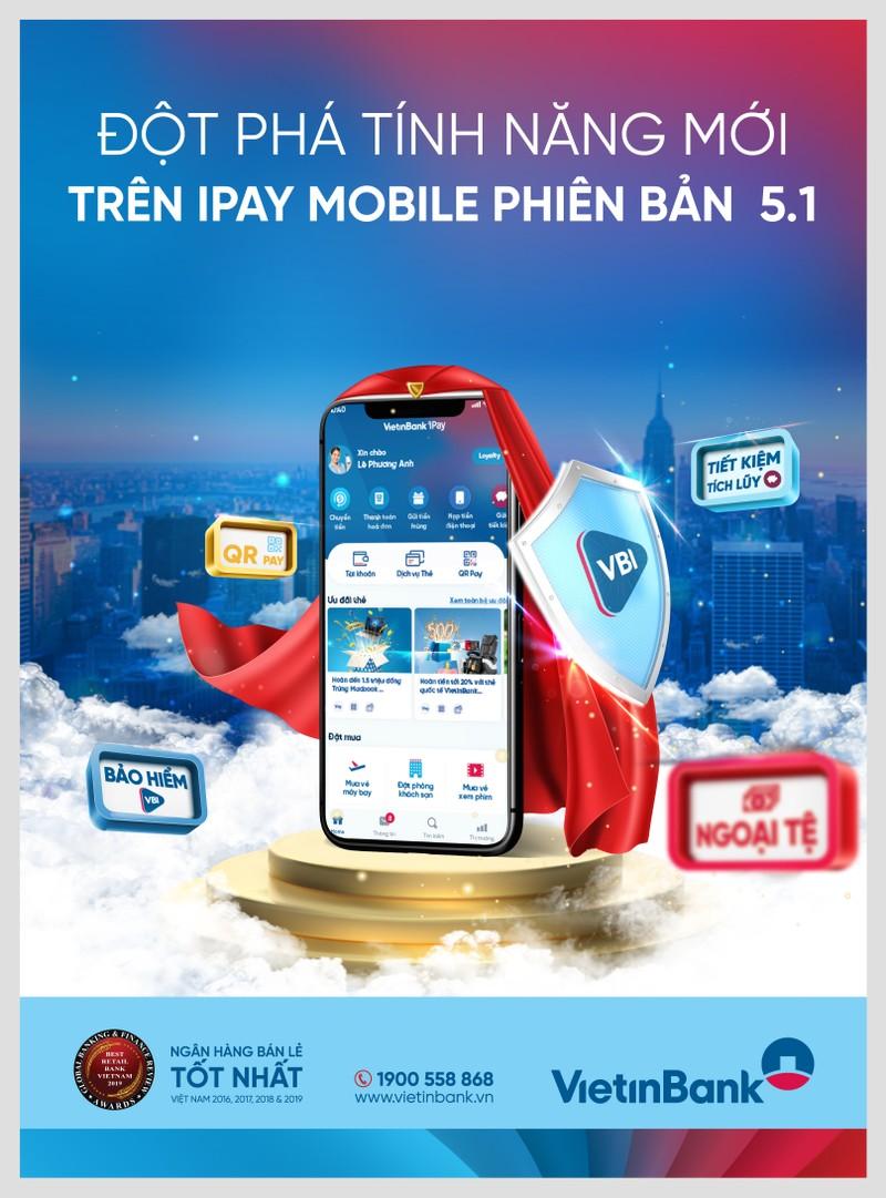 Dot pha tinh nang voi phien ban moi nhat VietinBank iPay Mobile 5.1