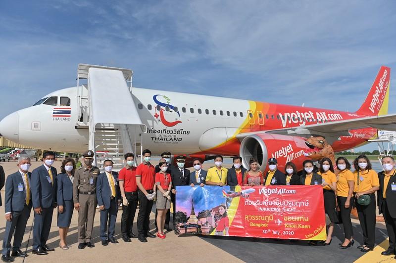 Vietjet Thai Lan khai truong duong bay Bangkok – Khon Kaen