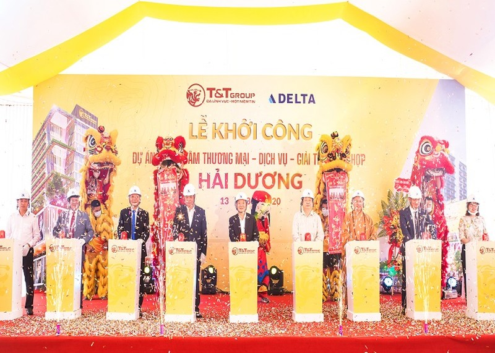 T&T Group khoi cong xay dung TTTM tai thanh pho Hai Duong