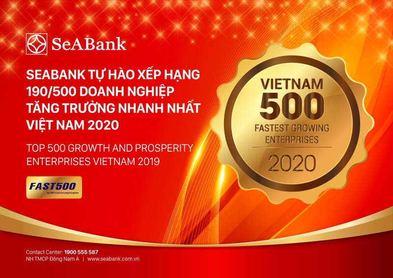 SeABank tang hang vuot bac, dung 190/500 trong BXH FAST500