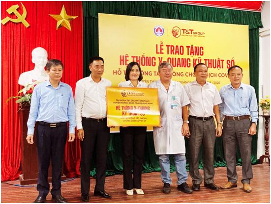 T&T Group trao he thong X-Quang ho tro Quang Nam chong COVID-19