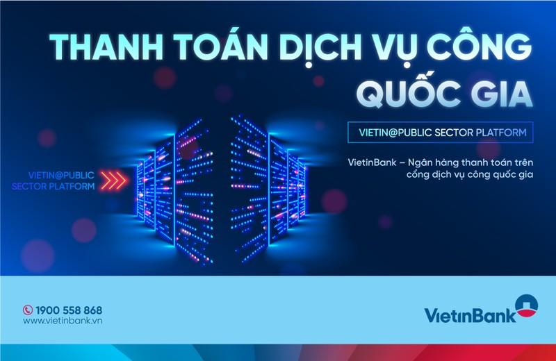 VietinBank tien phong trong thanh toan truc tuyen tren Cong Dich vu cong