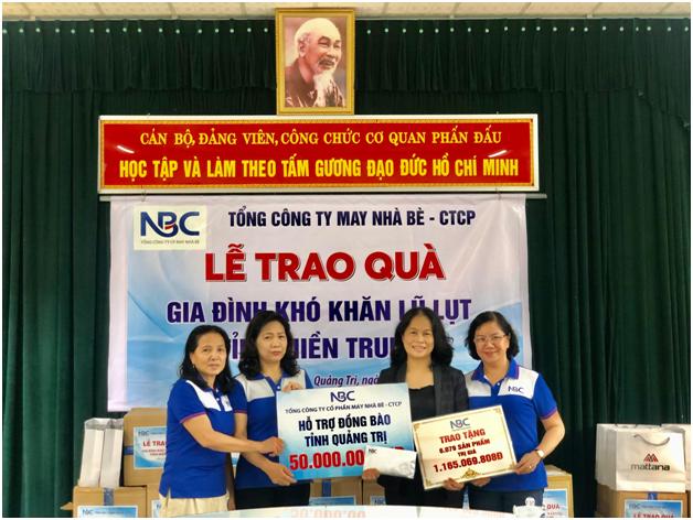May Nha Be – CTCP ung ho gan 1.3 ty cho nguoi dan Quang Tri