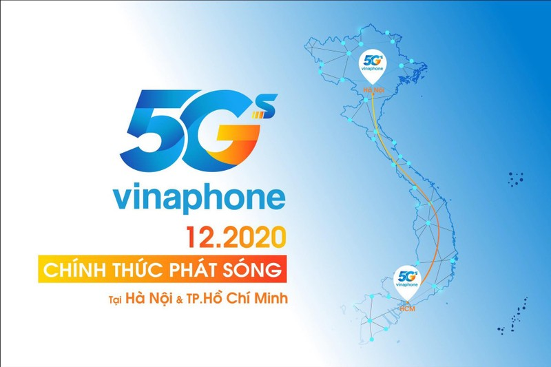 Chinh thuc phat song VinaPhone 5G tai Ha Noi va TP.HCM vao thang 12/2020