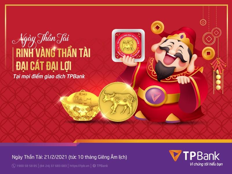 Mua vang dau nam, don loc may man cung TPBank