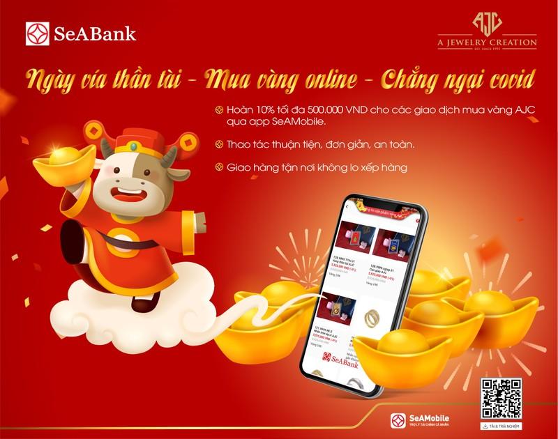 "Cung SeABank don ""than tai den nha, nhan loc xuan sang"""