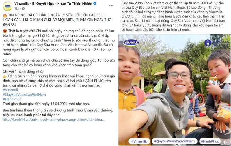 "Tran ngap hanh phuc voi ""Trieu ly sua yeu thuong, trieu nu cuoi hanh phuc"" cua Vinamilk-Hinh-4"