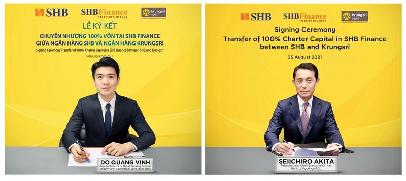 SHB se chuyen nhuong 100% von tai SHB Finance cho Krungsri