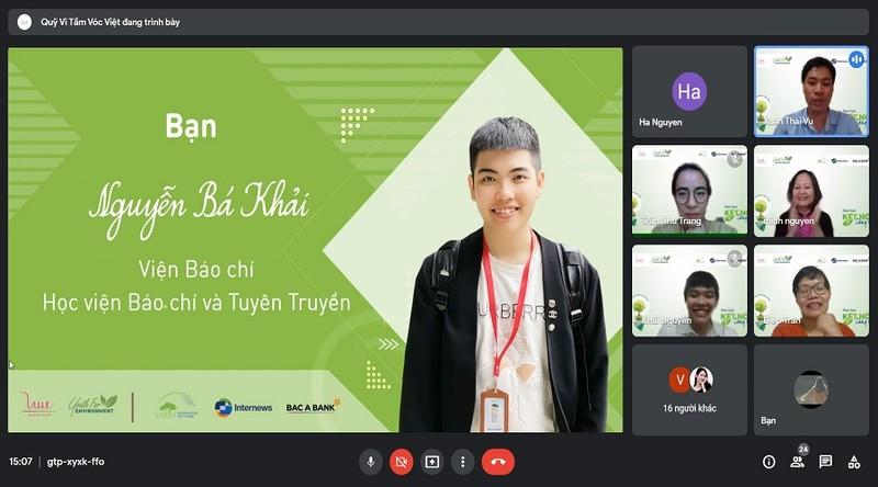 Du an Thanh nien vi Moi truong – Hanh trinh ket noi va sang tao